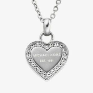NWT Michael Kors heart necklace